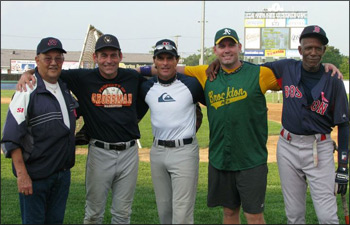 Ed Nottle (Rox skipper), Franz Strassmann (Middlesex Brewers),  Doug Flutie (Patriots), Jim Sweeney (Brockton A's), Oil Can Boyd (Red Sox)