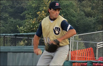 oug Flutie pitching for the Middlesex Brewers