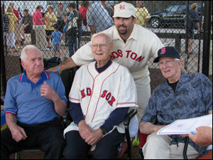Lennie Merullo, Bill Monbouquette, Lou Merloni & Johnny Pesky.