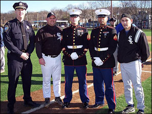 Boston Police Chief Kelley McCormick John Smokey Moore Toys For Tots Representatives From The US Marine Corps And Brett Rudy